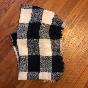 Accessories - Navy + White Buffalo Check Blanket Scarf